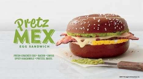 Pretzel Bun Breakfast Sandwiches
