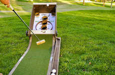 Arcade-Inspired Golf Games - The 'PuttSkee' Skee Ball Golf Game Can be Played Anywhere You Want