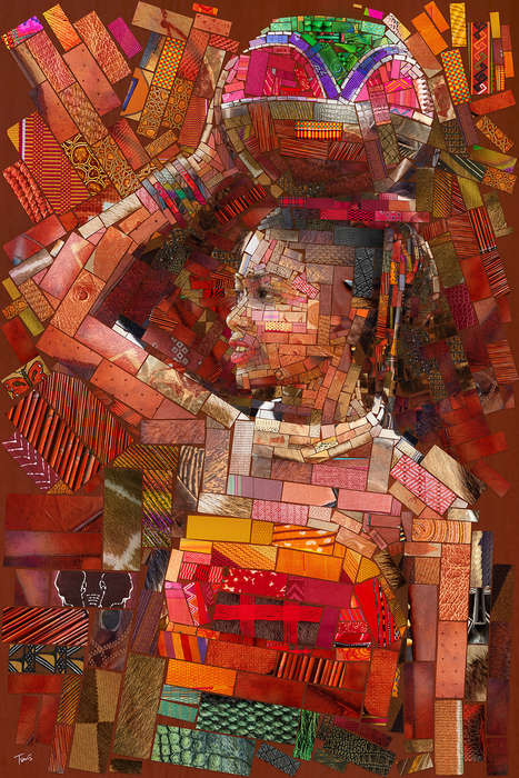 South African-Inspired Mosaic Artwork - Charis Tsevis' Series Honors the Zulus, Ndebele and Xhosa