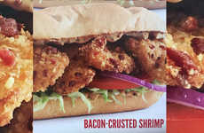Bacon-Crusted Seafood Sandwiches