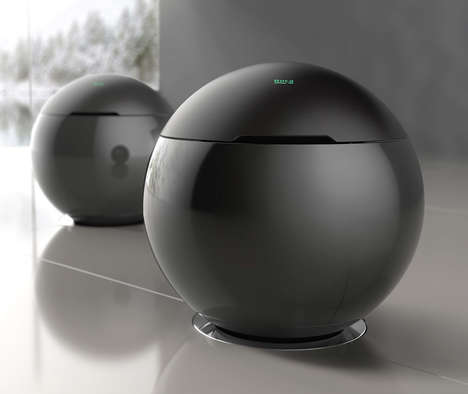 Spherical Connected Toilets