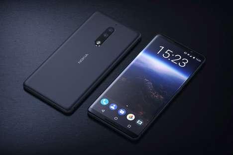 Conceptual Bezel-Free Smartphones