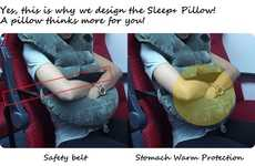 Stomach-Covering Travel Pillows - The Sleep+ Pillow Offers Safety and Comfort for Travelers