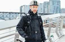 Cosmopolitan Reflective Jackets - This Jacket's Fabric Design is Inspired By Urban Cycling Hubs