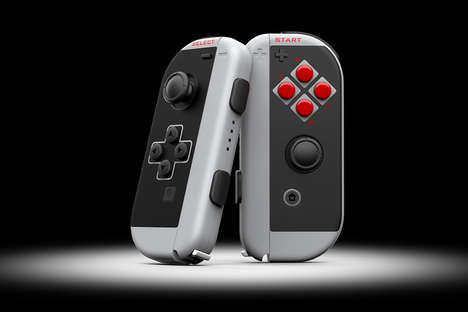 Retro Console-Inspired Controllers - The Colorware Joycon Classic Controller is Inspired by the NES