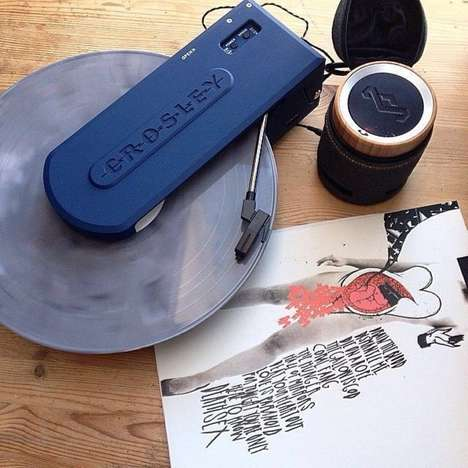 Minimalist Portable Vinyl Players - The Crosley Revolution Vinyl Disc Player Plays Records Anywhere