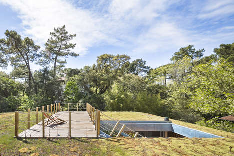 Lawn-Topped Houses - 'South Coast of Landes House' Makes Use of All Its Facets