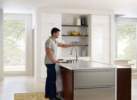 Motion-Activated Faucets - The Moen Ridgedale Kitchen Water Faucets Have MotionSense Technology
