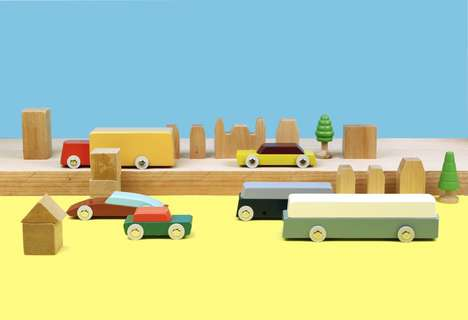 Minimalist Designer Toy Cars - The Ikonic Toys Wood Toy Cars are Intentionally Kept Simple