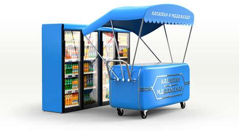 Vibrant Nostalgic Food Carts