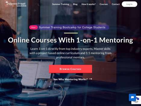 One-on-One Mentoring Platforms - 'InternStreet' Works on Project-Based Courses