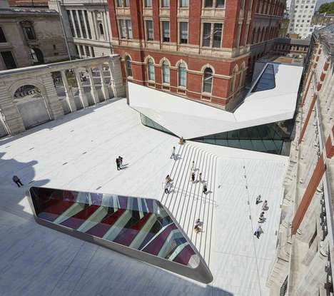 Porcelain Public Courtyards - The Sackler Courtyard is the First of Its Kind in the World