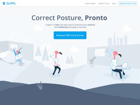 Professional Posture Exercise Platforms - 'Suppl' Helps Users Improve Posture at Work