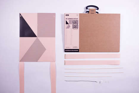 Bamboo Kite Kits - 'Kaku Dako' Includes Paper and Bamboo for Building a DIY Kite