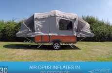 Inflatable Camper Trailers - The Air Opus Sets Up Automatically in as Little as 90 Seconds