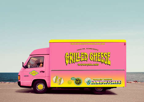 Nostalgic Food Truck Branding - Grilled Cheese Wonderland's Concept is a Nod to 90s Youth Culture