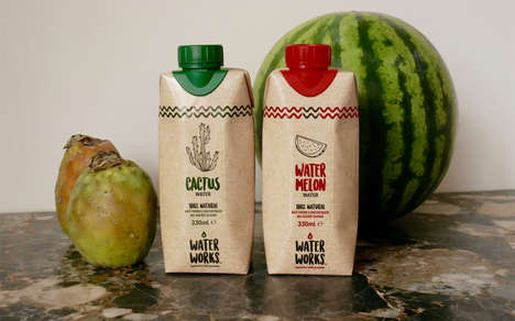 Natural Hydration Juice Waters - The Water Works Water Beverages are Completely Natural