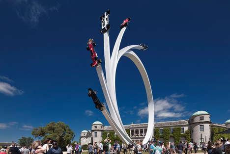 Looping Race Car Sculptures