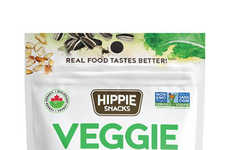 Clustered Vegetable Snacks - Hippie Snacks' Veggie Snacks are a Savory Alternative to Sweet Clusters