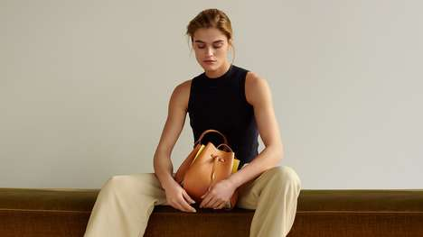 The Linjer 'Tulip' Bag is Made with Vegetable Tanned Leather