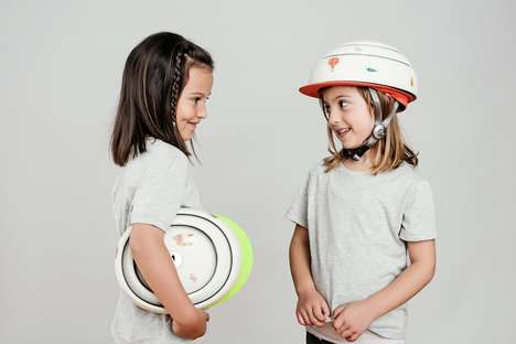 Folding Children's Helmets