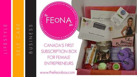 Entrepreneur-Specific Subscription Services - The FEoNA Box is a Service for Female Entrepreneurs