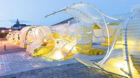 Undulating Plastic Pavilions