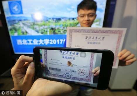 AR University Acceptance Letters - This Chinese University is Using AR to Issue Acceptance Letters
