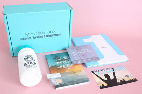 Motivation-Enhancing Subscription Boxes - The Accomplish Box is Filled with Inspirational Tools
