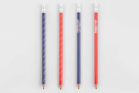 Retro Designer Brand Pencils - These Balenciaga Pencils Come in Four Different Variations
