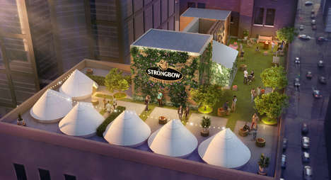 Rooftop Glamping Promotions - Strongbow's Orchard Glampground is in the Heart of Downtown Toronto