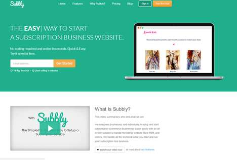 Subscription Startup Platforms - Subbly Helps Entrepreneurs Set Up Subscription-Based Businesses