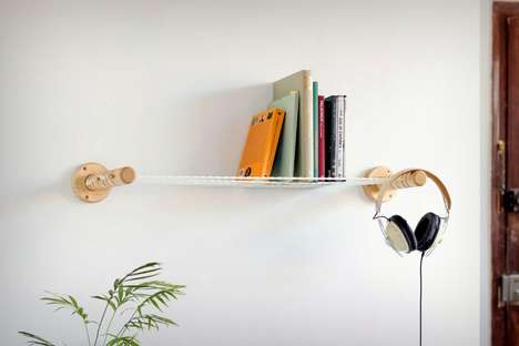 Suspended Rope Storage Shelves - The 'Xanxan' Shelf Platform is Crafted Using a Series of Taut Ropes