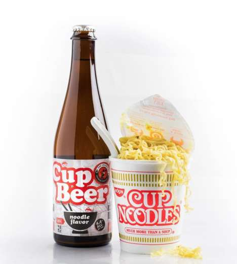 Ramen Noodle Beers - The Cup O' Beer Noodle Flavor Brew is Made with Real Noodles