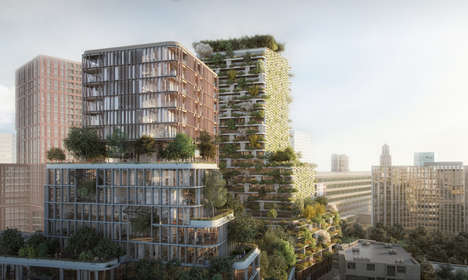 Vertical Urban Forests - The Hawthorn Tower is Set to Be Holland's First Vertical Garden