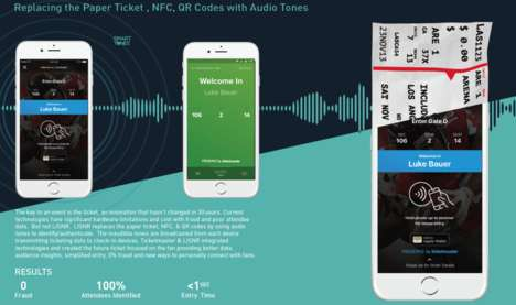 Audio Tone Tickets - Ticketmaster and Lisnr's Breaking the Ticket Replaces Tickets with Audio Data