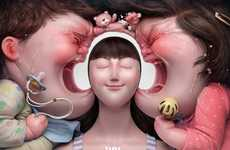 Illusory Headphone Ads - These Ads Cleverly Illustrate JBL Headphones' Noise Cancellation Feature