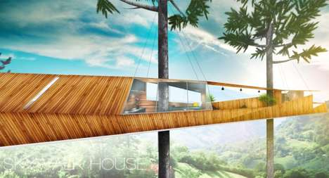 Cantilevered Treetop Houses - The Skywalk Treehouse Lets Inhabitants Walk Right Out to the Canopy