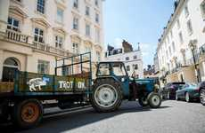 Tractor-Style Taxis - Orchard Pig is Offering London Taxi Rides in a 'Traxi'