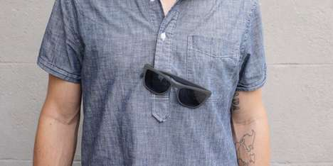 Magnetized Sunglasses - Maglock Sunglasses Secure Frames to a Shirt or Bag