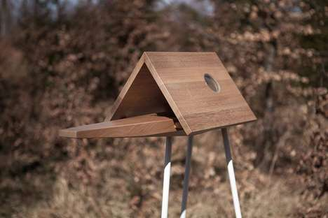 Freestanding Observational Birdhouses - The 'Birdwalk' Birdhouse Enables Fantastic Birdwatching