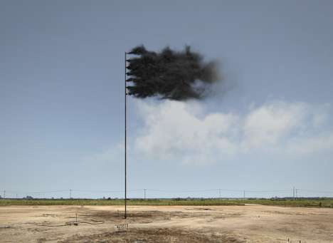 Black Smoke Flags - John Gerrard's 'Western Flag' Video Criticizes Climate Change From Oil Fields