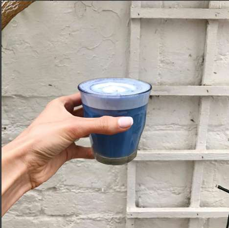 Blue Matcha Lattes - This Bright Blue Latte Will Set Your Instagram Feed Apart From the Rest