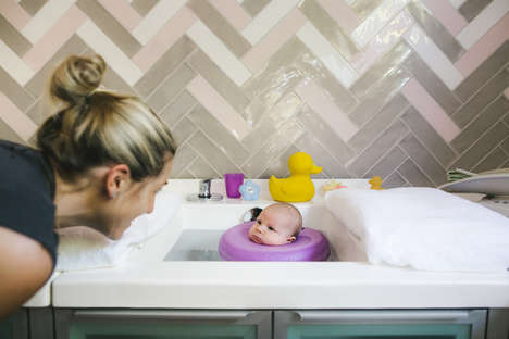 Blissful Newborn Spa Treatments - Australia's First Spa for Babies is an Adorable Bonding Experience