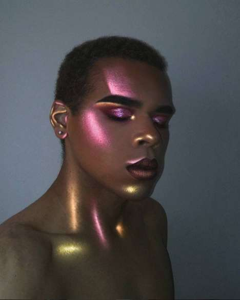 30 Holographic Beauty Innovations - From Highlighter-Hued Hair to Cosmic Lip Color Topcoats