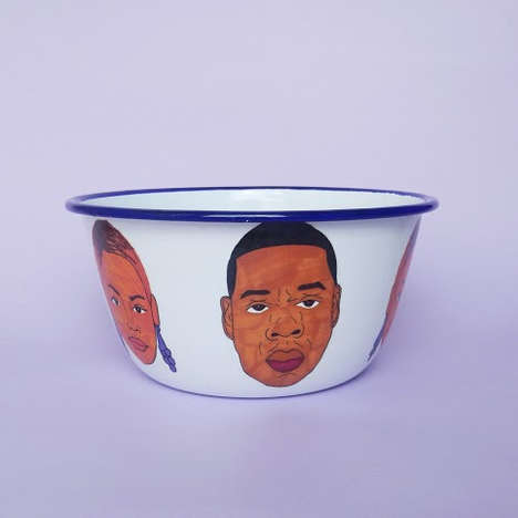 Illustrated Hip-Hop Ceramics - Etsy's issayissay Shop Offers Musician-Inspired Home Accessories