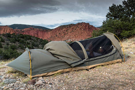The Kodiak Canvas Swag Tent Offers Just Enough Space for One