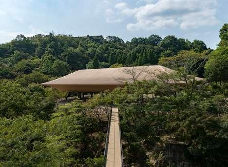 Ship-Shaped Commemorative Pavilions
