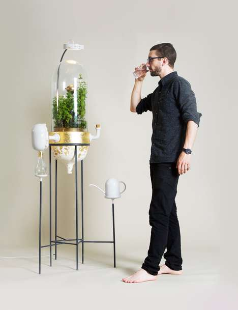Plant-Based Water Filters - 'Drop by Drop' Uses a Self-Contained Filtration System to Purify Water