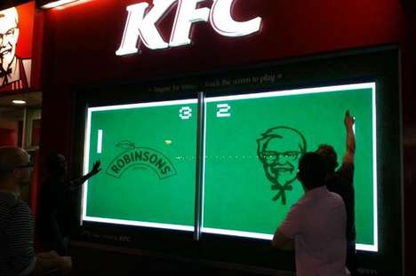Interactive Fast Food Windows - KFC and Robinsons are Celebrating Wimbledon with a Pong Game